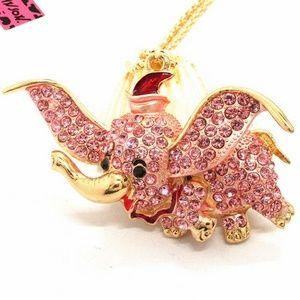 Pink Elephant Betsey Johnson Necklace NWT